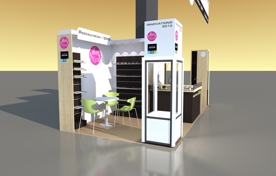 Stand fit salons sial et cfia for Stand de degustation